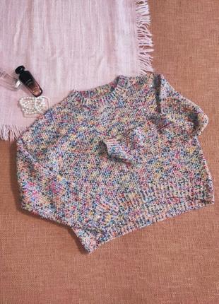 Свитшот свитер оверсайз укороченный блестящий яркий