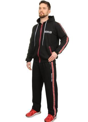 Мужской спортивный костюм из турецкого трикотажа с лампасами демисезонный (2093)