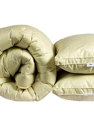 Двуспальное гипоалергенное одеяло+2 подушки