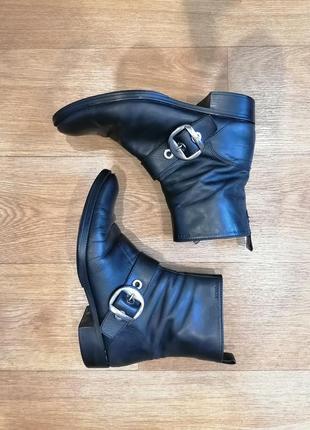 Фирменные ботинки geox из натуральной кожи, кожаные ботинки