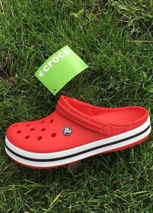 Crocs crocband red кроксы