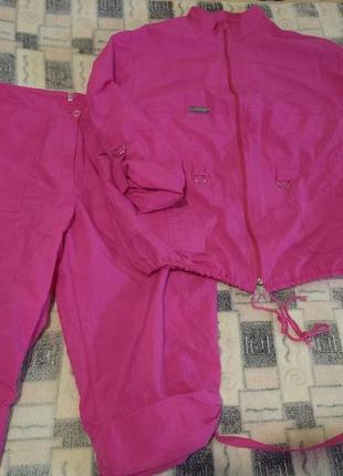 Костюм-ветровка куртка+бриджи 54р.