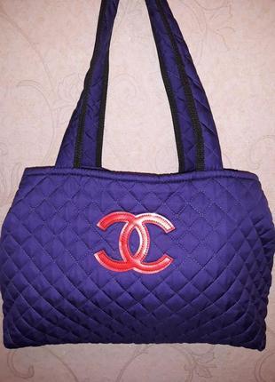 Сумка спортивная, в стиле шанель, женская спортивная сумка, спортивна сумка