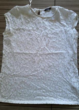 Белая футболка 48-50р