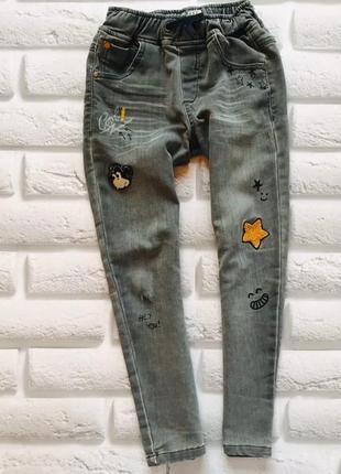Next стильные трикотажные джинсы на мальчика 5-6 лет