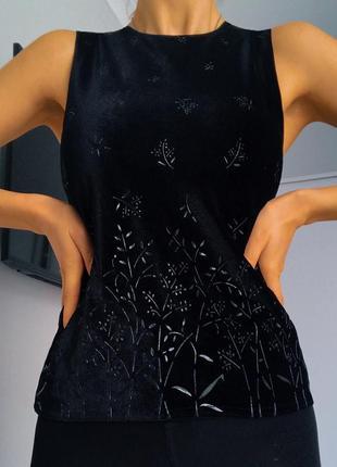 Майка new look чёрная замшевшая размер s