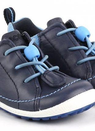 Кожаные ботиночки ecco biom детские размер 19 туфли оригинал ботинки