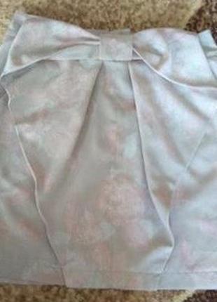 Шикарная стельная юбка с бантом