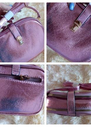 Маленька рожева сумочка плече