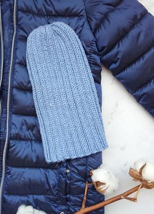 Детская шапка шапочка бини тыковка для мальчика