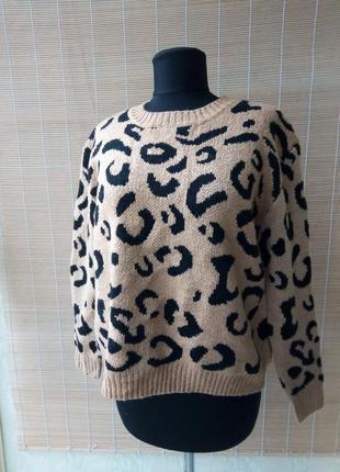 Трендовый леопардовый свитер от shein