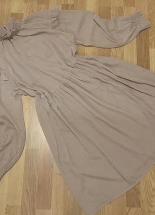 Платье шифон с комбинацией vila
