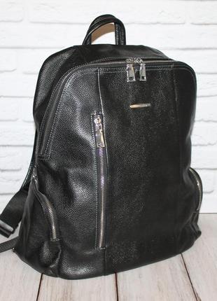 Большой кожаный рюкзак corliss 100% натуральная кожа