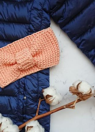 Вязаная повязка повязочка чалма солоха для девочки