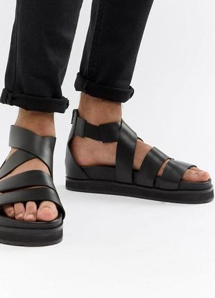 Кожаные сандали на платформе asos, размер 40