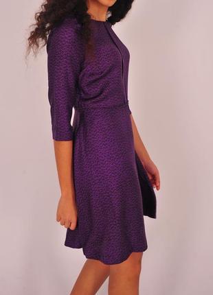 Фиолетовое шелковое платье tiger of sweden черное шелк 100% короткое с размер s