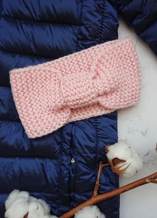 Вязаная повязка чалма солоха на голову для девочки