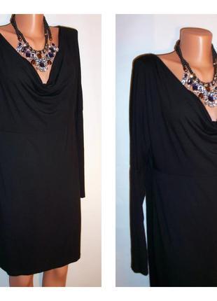 Базовое черное платье hema