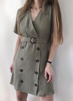 Оливкова сукня primark