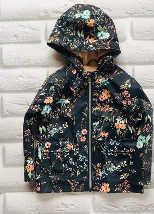 Nutmeg стильная куртка-ветровка -макинтош на флисе на девочку 2-3 года