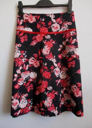 Sale -50%! хлопковая юбка в цветочный принт dorothy perkins
