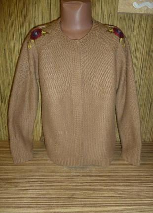 Кофта / кардиган с вышивкой zara на 9-10 лет