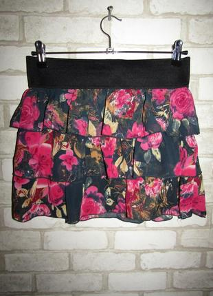 Летняя красивая юбка р-р м бренд amisu2 фото