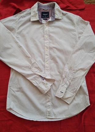 Стильная рубашка сорочка с длинным рукавом springfield
