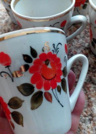 Комплект чашечек кофейных винтажных