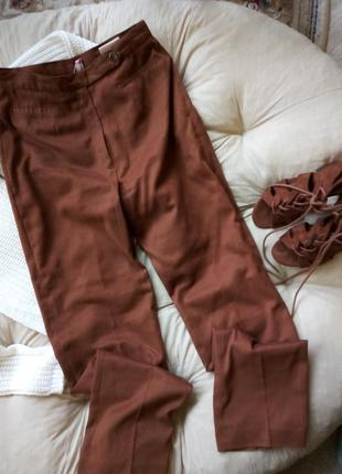 Классические винтажные брюки под замшу