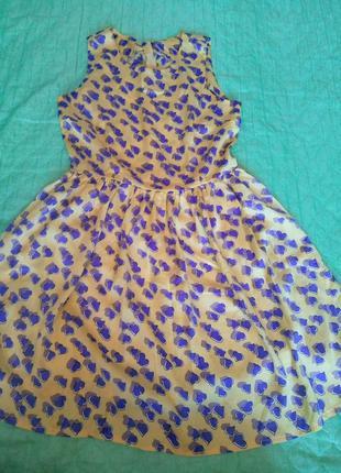 Шелковое платье в сердечки