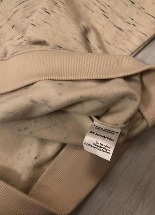 Бежевий світшот з принтом tom tailor