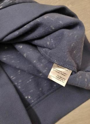 Cвітшот синій текстурований з принтом tom tailor