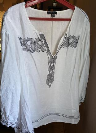 Этническая блуза, рубашка, вышиванка 56/58 xxxl/xxxxl большой размер
