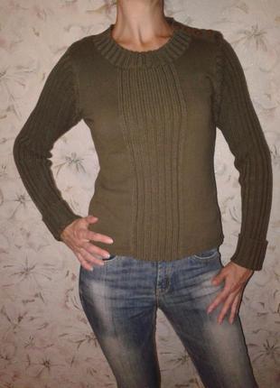 Хлопковый свитер с застежкой на плече