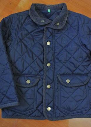 Стильная синяя курточка стеганка на мальчика