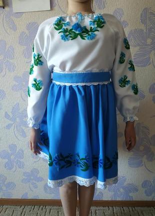 Детский украинский вышитый костюм/вышиванка