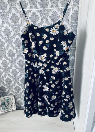 Милое платье сарафан в ромашки