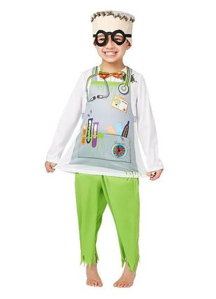 Сумасшедший ученый доктор 2-3 года костюм эйнштейн