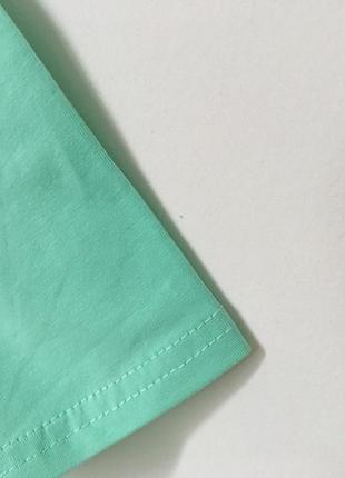 Новая качественная коттоновая футболка цвет мятный3 фото
