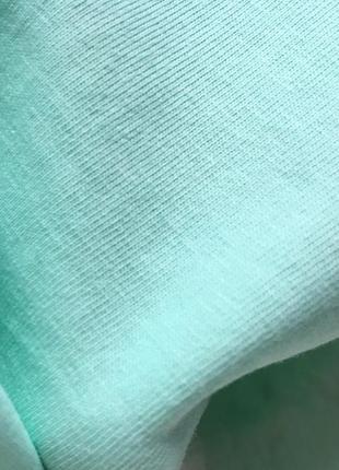 Новая качественная коттоновая футболка цвет мятный5 фото