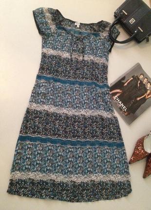 Легкое шифоновое платье в принт.0038