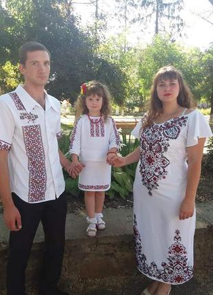 Плаття, чоловіча сорочка , дитячий костюм