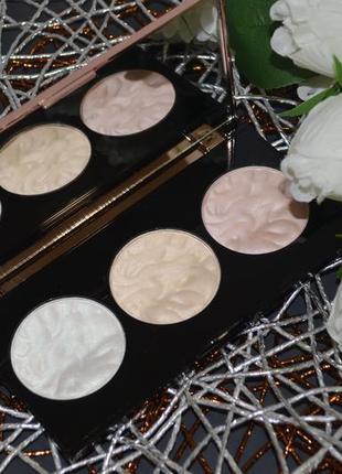 Палетка хайлайтеров для лица makeup revolution 3 strobe highlighter palette