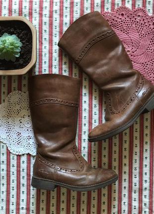 Высокие сапоги сапожки натуральная кожа clarks размер 28,5 стелька 18 см