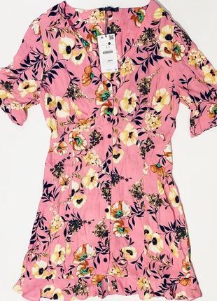 Платье в цветы bershka