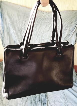 Винтажная сумка ридикюль из натуральной кожи