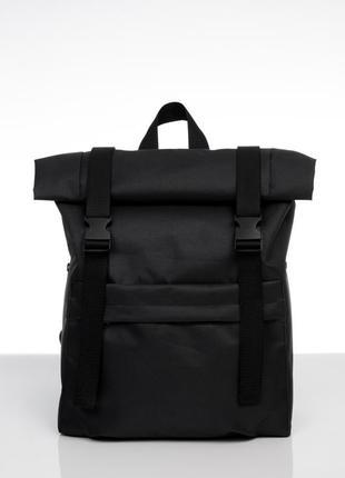 Мужской черный рюкзак ролл для путешествий