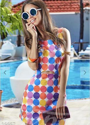 Яркий комбинезон-обманка платье gepur