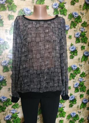Блузка лёгкий прозрачный свитшот